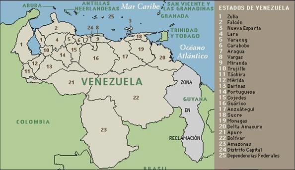 Aprendiendo los Estados de Venezuela y sus capitales